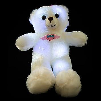 Wewill Marca Adorable LED encender hasta el oso de peluche de brillo Peluquería, oso de