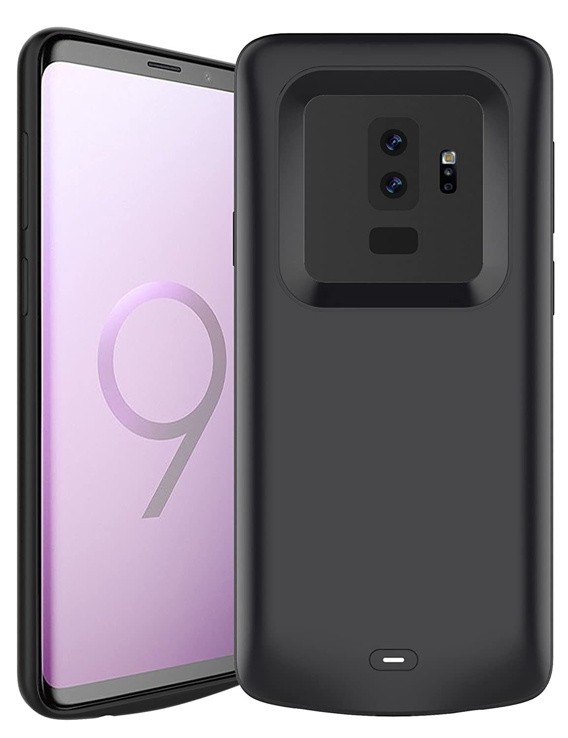 Pumier Samsung Galaxy S9 Plus Battery Case, 5200mAh Rechargeable Extended Protective Portable Backup Charger Case for Samsung Galaxy S9 Plus(for S9+Plus only, not for S9) B6
