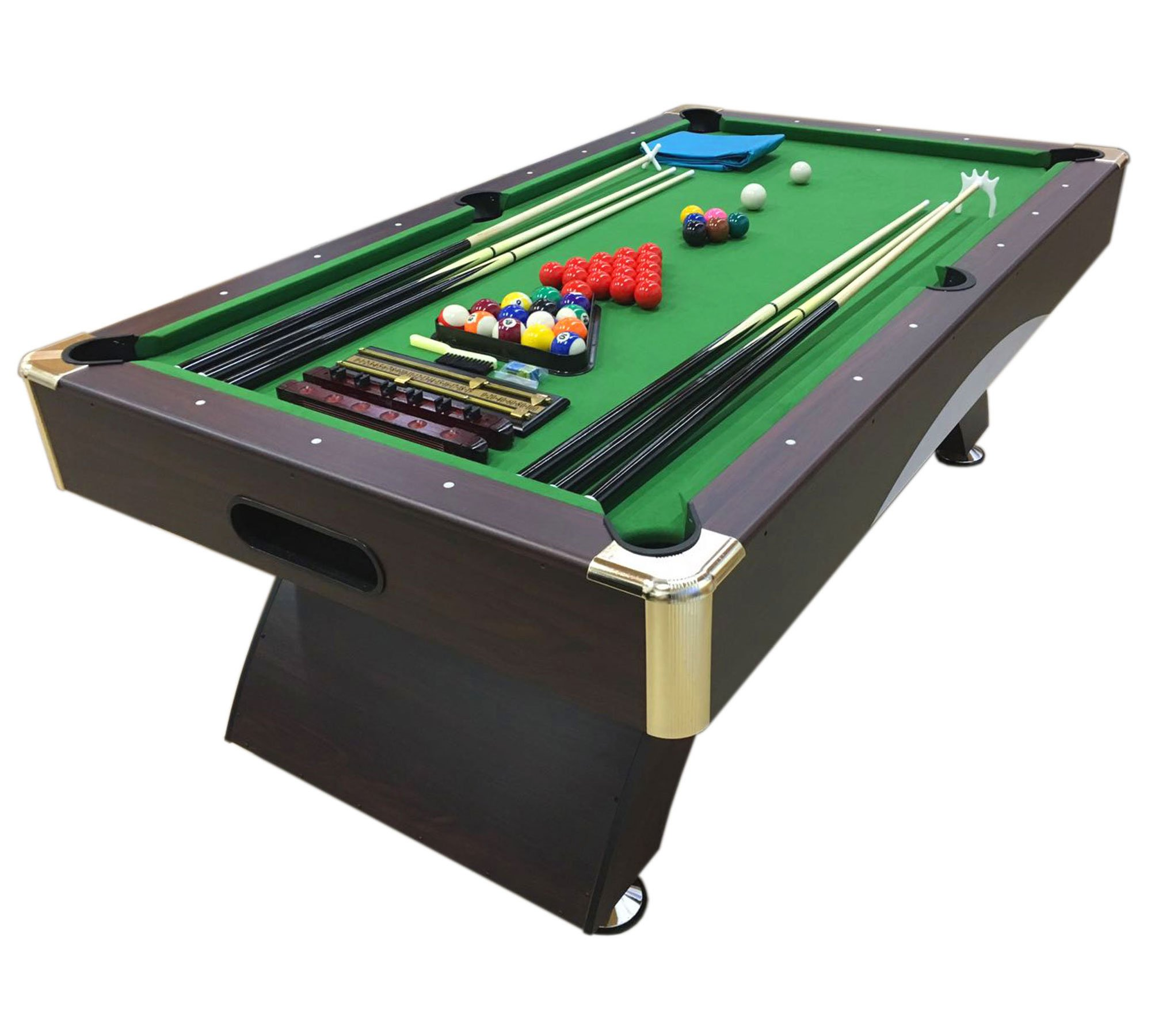 - 8 Ft Pool Table Billiard Model Leonida Playing Table Game Green
