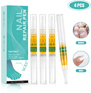 Nail Treatment Repair Pen for Nail Problem - Toe Foot Toenail Infection Treatment Help to Cure cracked, rough nails, discolorations, brittle and split toenails, Pack of 4