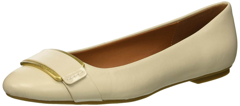 Calvin Klein Women's Oneta Ballet Flat B07CHTYZ49 11 M US|Soft White