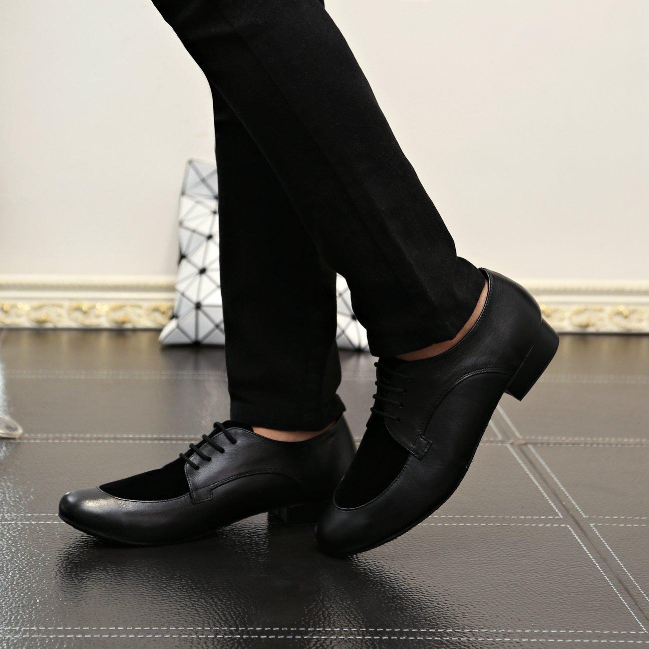 Tango Jazz 2 Zapatos Beige Cm 50 Cuero Tacón Salón Mqforu Latinos Con Para Color Cordones De Baile Redonda Suela Hombre Suave Y Punta xgUwfqx