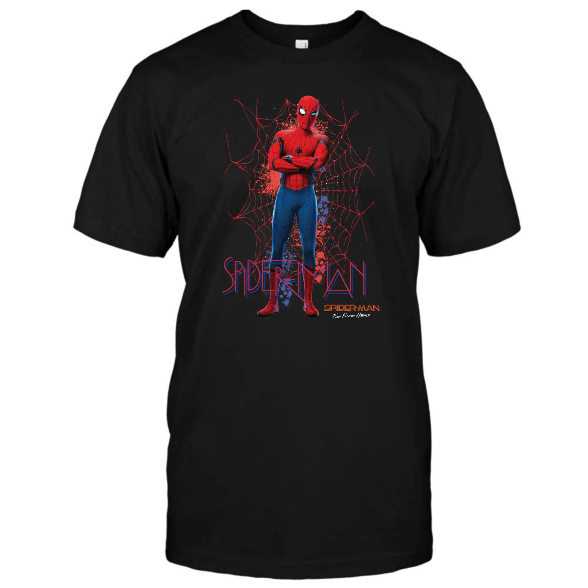Spiderman Shirt Spiderman Far From Home Painted Logo Swing Poster Tshirt 1