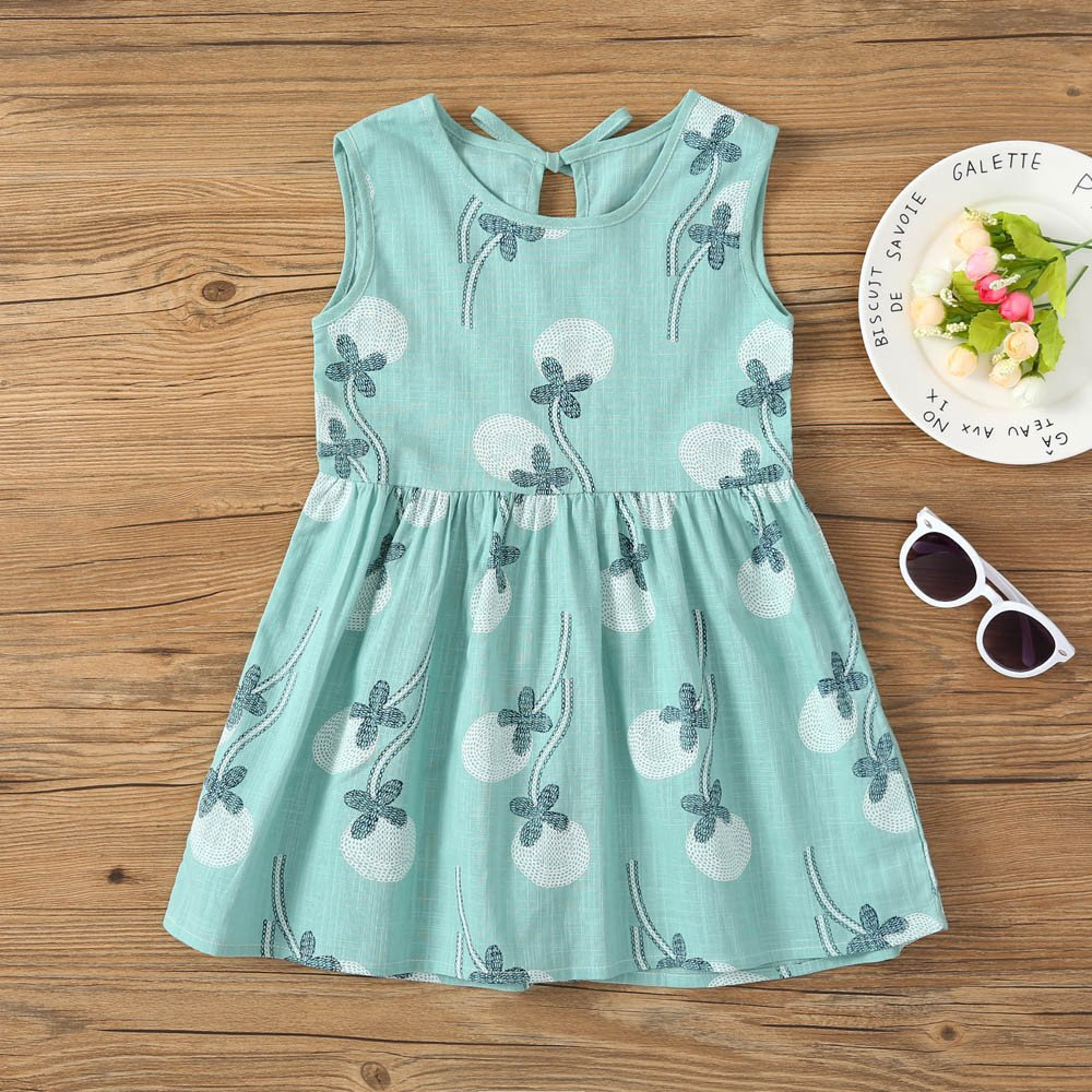 6ef48f91062e ... Girls Dresses Yamally Baby Kids Cartoon Cotton Dress Sleeveless Summer  Dress Casual Dress for Toddler Yamally 9R ...
