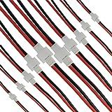 10ペアSYMA X5C X5A X5SWコネクタ延長ワイヤJST-XHバランスコネクタ2.0 mm 2ピンバッテリオス/メスコネクタシリコンワイヤ (JSTコネクタ)