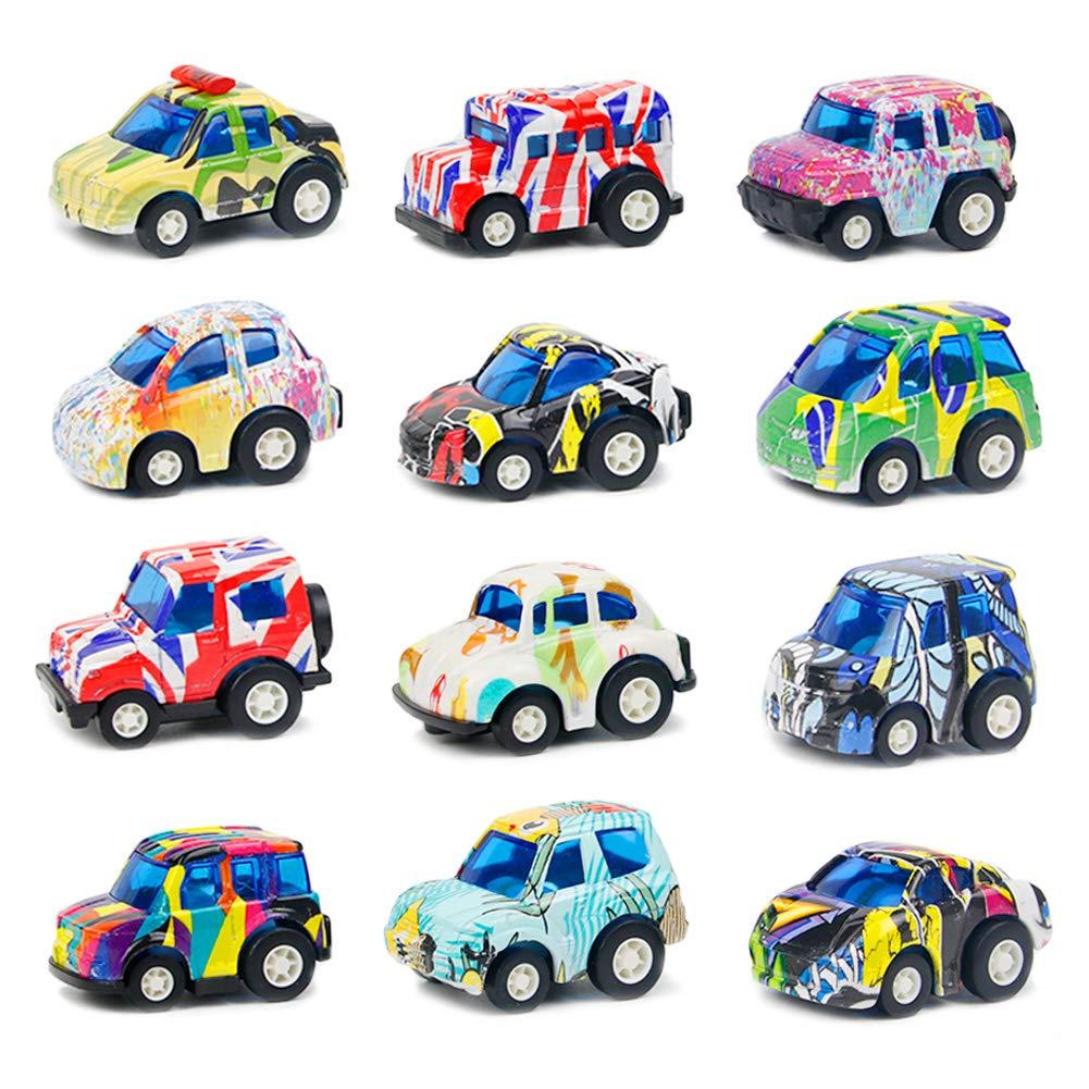 Auto Spielzeug Set Fahrzeuge Kinder Pull Back Autos 12 Stück Die ...