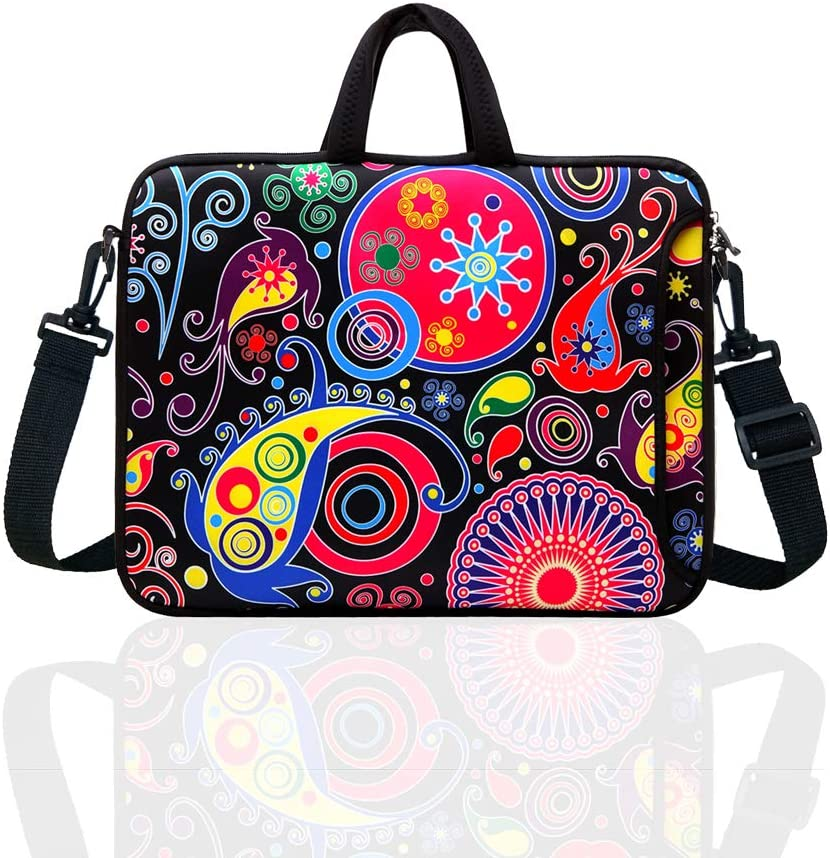 """12-Inch Laptop Shoulder Bag Sleeve Case With Handle For 11.6"""" 12"""" Netbook/Macbook Air Pro (Classic Colourful)"""