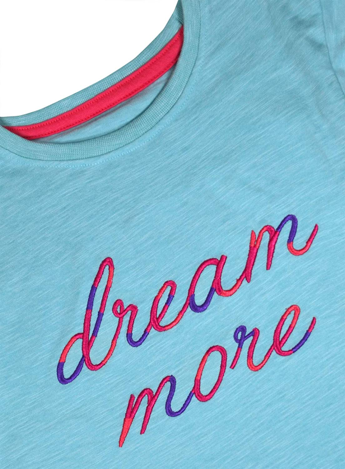 Machine Washable jolly rascals Girls Pyjama T-Shirt in Cotton Blend with Crew Neck and Short Sleeves