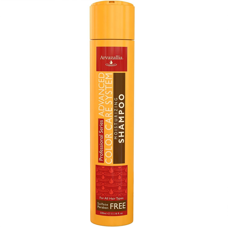 Sulfate Free Shampoo for Color Treated Hair with Argan Oil and Macadamia Oil By Arvazallia - Advanced Color Care Moisturizing Shampoo