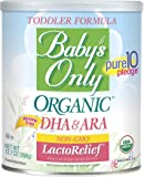 Baby's Only Organic Non-GMO LactoRelief with DHA & ARA Toddler Formula, 12.7 oz