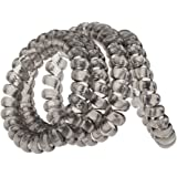 Great Value High Quality Hair Styling Hairdos Set Kit With 4 Spiral Plastic Traceless Coils / Wires / Hair Bobbles Bands In Grey Colours By VAGA®