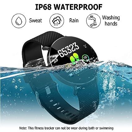 Gearlifee Fitness Tracker, IP68 Waterproof Reloj Pulsera con ...