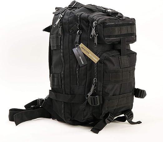 Negro 45L Mochila T/áctica Militar,Paquete de Asalto del Ej/ército Grande Bolso Hombres//Mujeres Molle Mochilas para Senderismo al Aire Libre Camping Caza