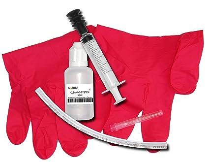 Limpieza de los cabezales de impresión Kit de impresora de inyección de tinta 30ml RSNROCKET limpiador hecho en Alemania con la jeringa y la inyección ...