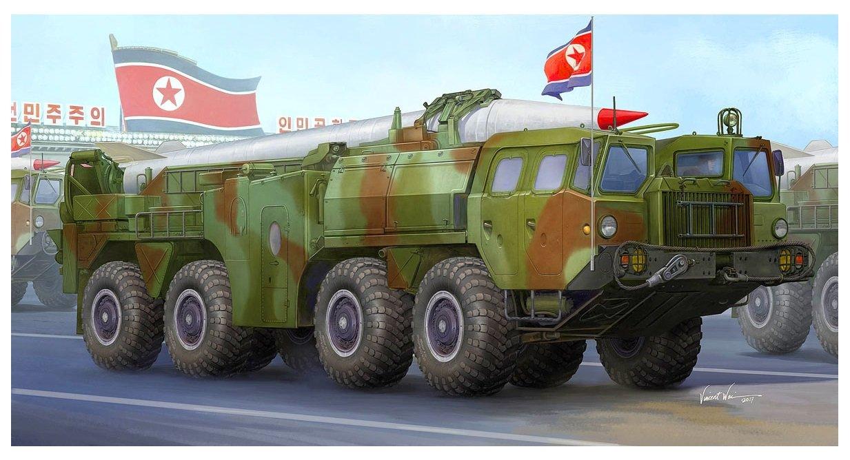 Тrumpeter 1/35 medium-range ballistic missile Мars Νo. 5 plastic model 01058