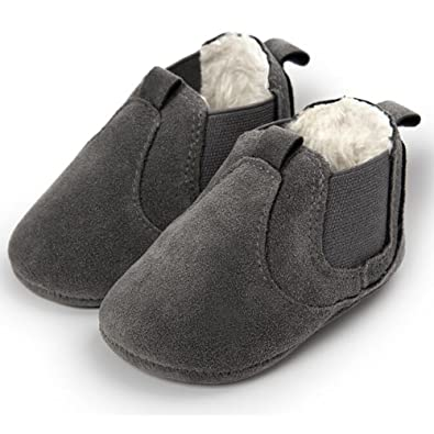 FuzzyGreen Charcoal Baby Ankle Boots, Premium Soft Comfortable Cotton Infant Mocasin Shoes For Baby Boys