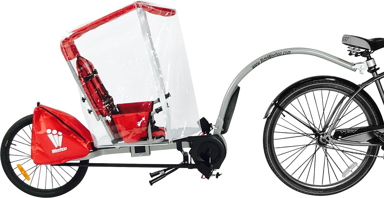 Weehoo IGO Clima toldo Remolque Bicicleta de Adulto de los niños, Rojo, M: Amazon.es: Deportes y aire libre