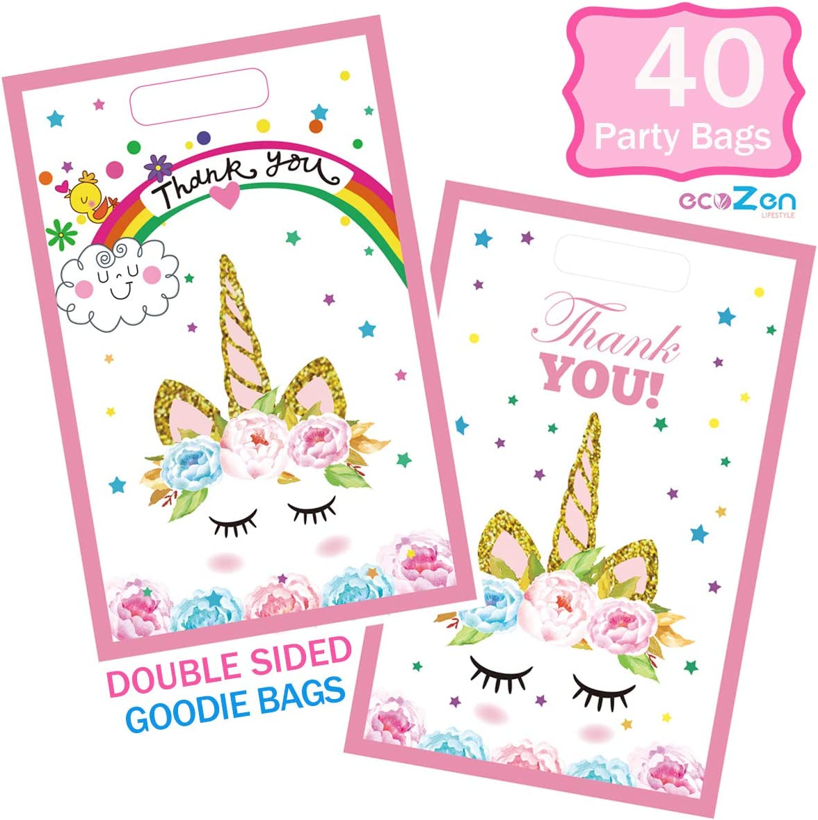 Unicorn Party Favor Bags for 30 Guests and Up