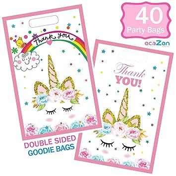Amazon.com: Bolsas de fiesta de unicornio, 40 paquetes de ...