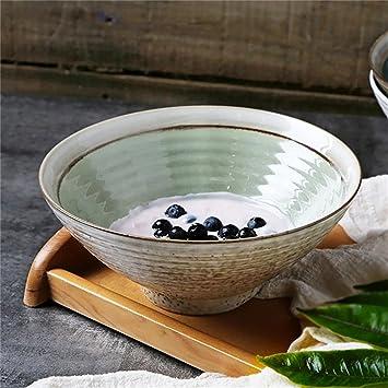 Cuenco del arco Cubiertos Retro creativos del Cuenco de Sopa casero de cerámica (Color : Verde): Amazon.es: Hogar