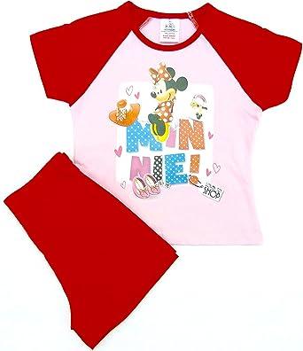 0482b8c66 Disney Girls Kids Minnie Mouse Shortie Pyjamas Nightwear T-Shirt ...