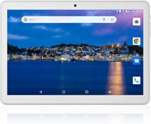 "Tablet 10 inch Android 8.1 Oreo Go Edition,Google Certified, 10.1"" 3G/WiFi Tablets with Dual Sim Card Slots and Carmera,6000mAh Battery,Quad-Core Processor,16GB, Bluetooth,GPS"