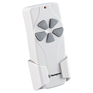 Westinghouse Lighting 7787000 Ceiling Fan and Light Remote Control White