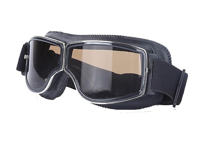 9822d2af0a AnazoZ Gafas de Moto Gafas de Casco Gafas de Máscara Gafas Protectoras  Viento Gafas de Motocross Gafas Protectoras Gafas Protectoras Deporte Gafas  Negro ...