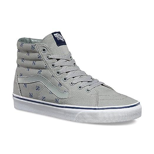 Vans Unisex Sk8-Hi MLB Skate Shoes-New York Yankees/Gry-9.5