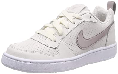 huge selection of 9f49b a9828 Nike Court Borough Low (GS), Chaussures de Basketball Fille, Blanc (Phantom