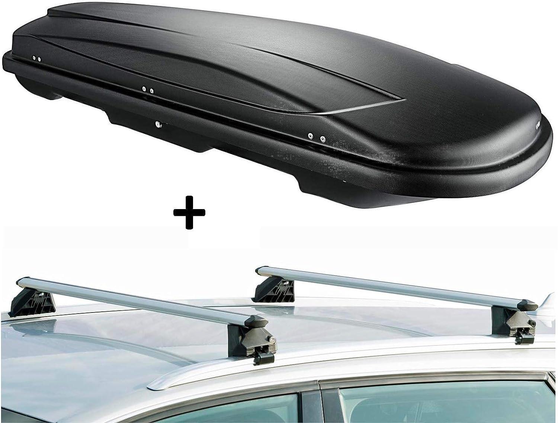 Vdp Dachbox Vdpjuxt400 400ltr Schwarz Abschließbar Dachträger Crv107a Kompatibel Mit Audi Q7 4l 5 Türer 2006 2015 Auto