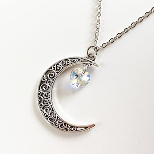 b48a5b45c2a64 Amazon.com: sailor moon Necklace,Crescent moon necklace with ...