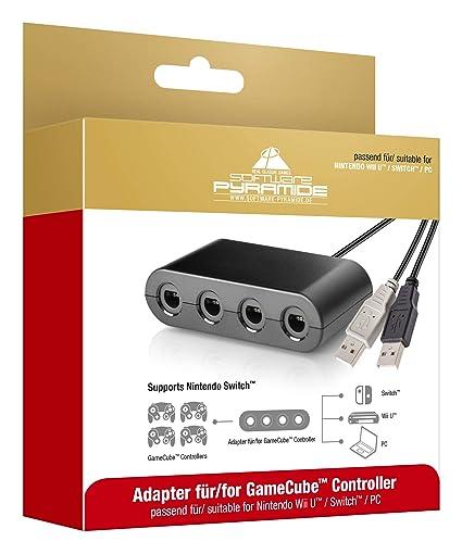 Gamecube Controller Adapter für | Nintendo Switch | Wii U | PC USB | mit 4 Slots