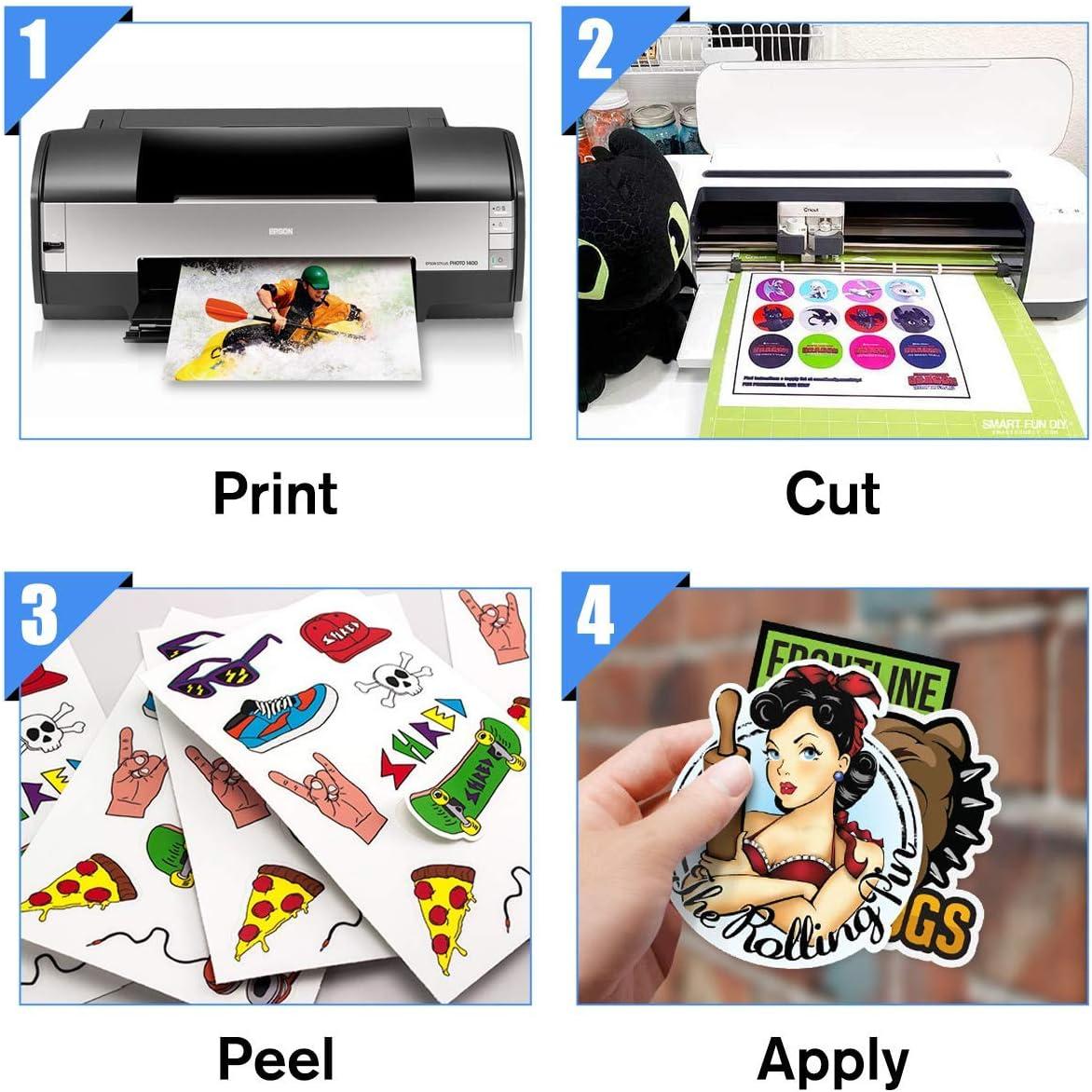 Papel adhesivo de vinilo para impresora de inyección de tinta, 30 ...