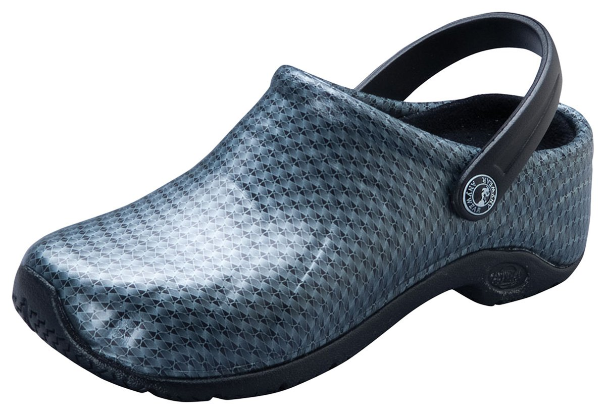 Anywear Unisex Injected Clog w/Backstrap_Black Silver Pattern_8,Zone by Anywear