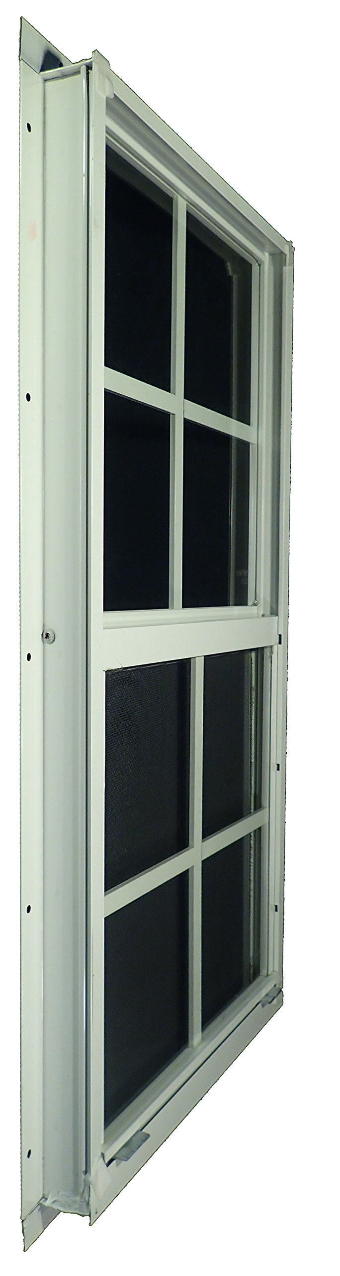 Shed Windows 14'' W x 21'' H - Flush Mount w/ Safety Glass - Playhouse Windows (White) by Outdoor Play and Storage (Image #2)