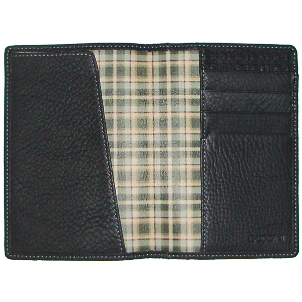 Tyler Tumbled Passport Case Color: Black with Green Plaid