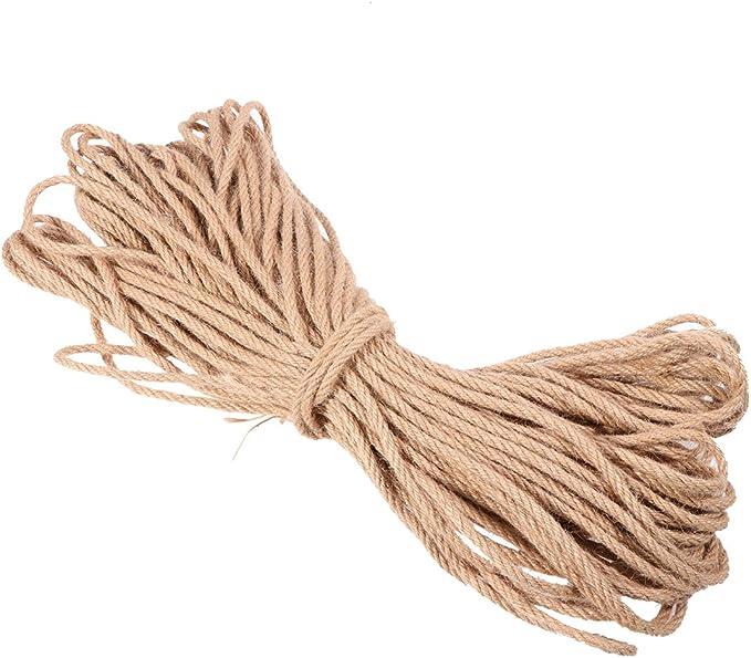 50 Meters Portable Twine String Twine Cord Premium Jute Rope for Cat Tree