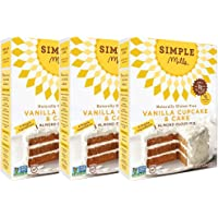 Simple Mills 3-Pack of 11.5 Ounce Almond Flour Mix, Vanilla Cupcake & Cake