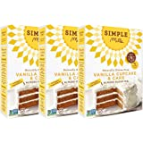 Simple Mills Almond Flour Mix, Vanilla Cupcake & Cake, Naturally Gluten Free, 11.5 oz, pack of 3