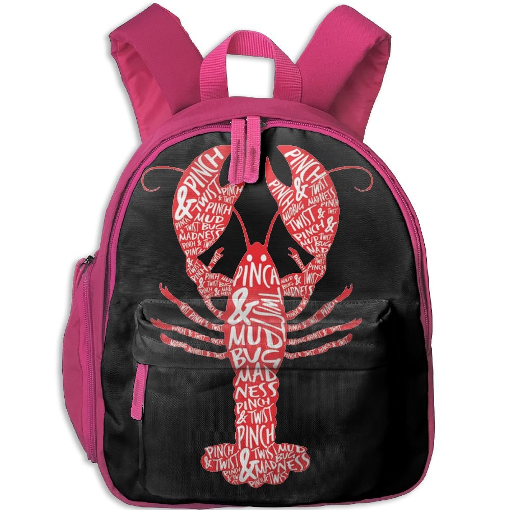 uajar Peace Love Crawfish子オックスフォード布バックパックブックバッグ実用的Schoolbag One Size ピンク kh4g1r5r1h2s-38993805-Pink-29 B07FP2HSS1 ピンク One Size