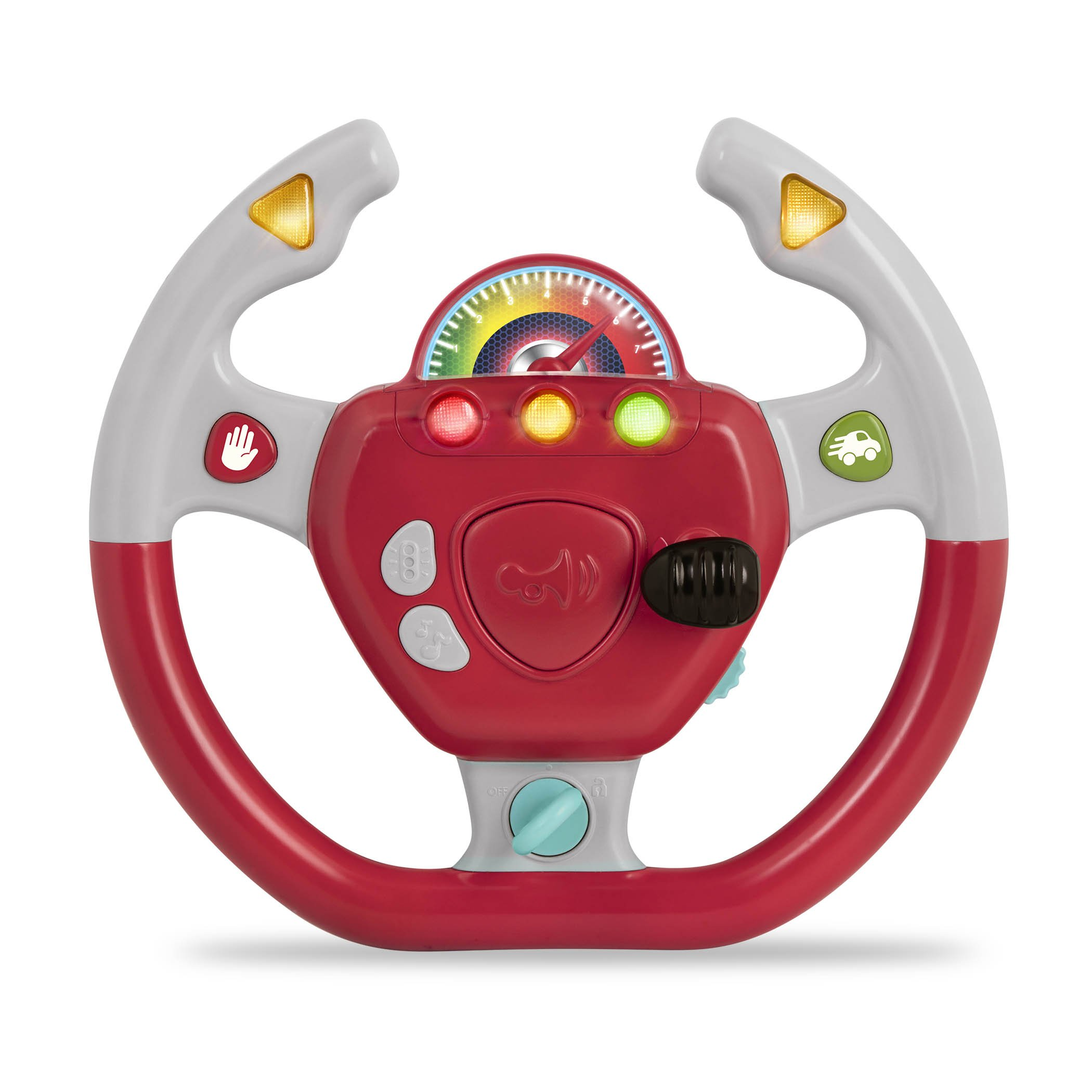 Battat - Geared to Steer Interactive Driving Wheel - Portable Pretend Play Toy Steering Wheel for Kids 2 years +