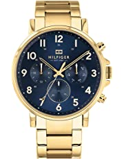 Bevilles Tommy Hilfiger Daniel Multi Function Gold Stainless-Steel Watch Model 1710384 Stainless Steel 3 Hands,Chronograph,Date & Day 7613272319539