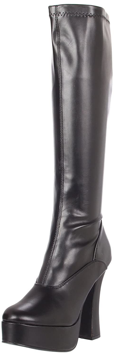 Pleaser ELECTRA-2000Z, Botas plataforma mujer46 EU|Negro (Blk St Faux Leather)