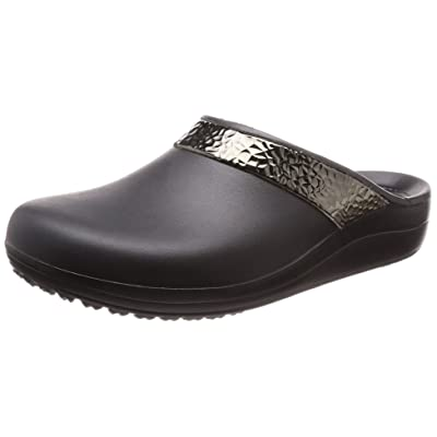 Amazon.com | Crocs Women's Sloane Hammered Metallic Clog | Mules & Clogs