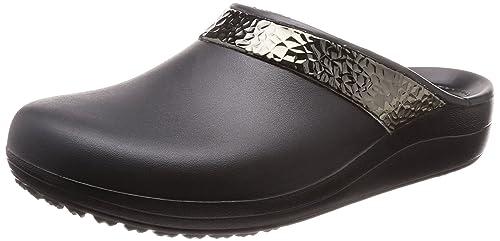buy online 22de2 1b534 Crocs Women's Sloane Hammered Metallic Clog