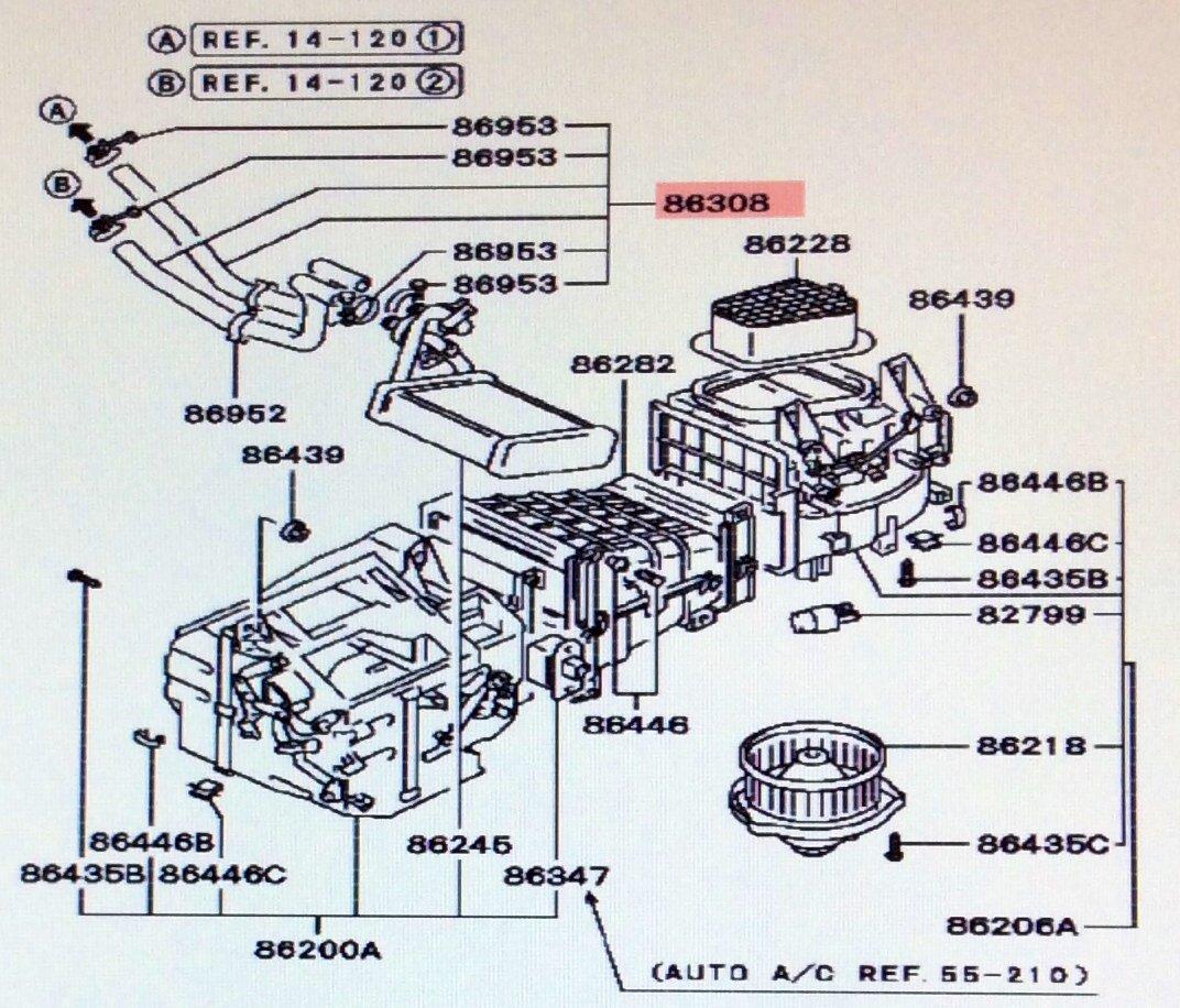 Amazon.com: Genuine Mitsubishi Heater Hose Kit MB698901 3000GT DOHC & Turbo  1991 1992 1993 1994 1995 1996 1997 1998 1999 #86308 in Diagram: Automotive