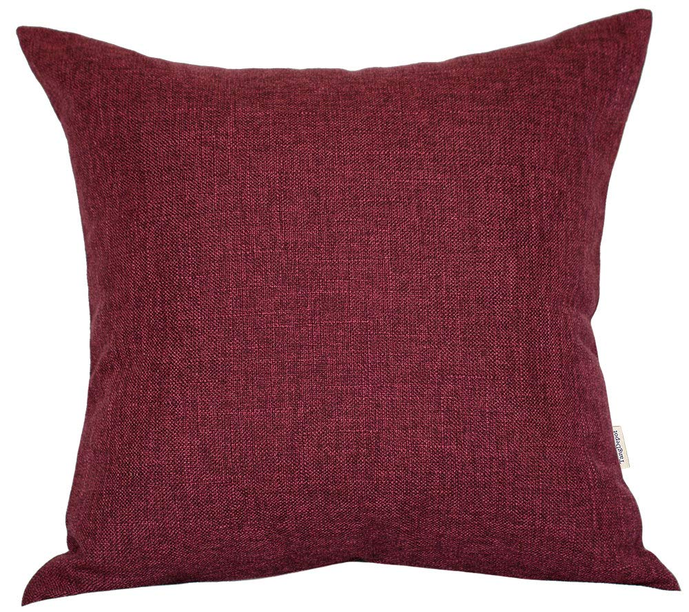12x12, Chocolate Throw Pillow Cover TangDepot Heavy Lined Linen Cushion Cover Indoor//Outdoor Pillows Shells - Square Decorative Pillow Covers