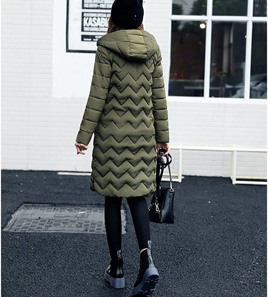 Zhuhaitf Quilted Down Winter Jackets For Women Long Hood Ladies Down Coats Outwear