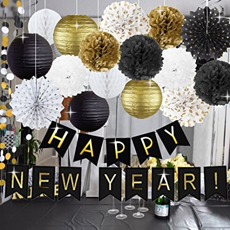 Amazon Com Kubert New Years Decorations Kit Happy New Year Banner